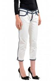 Dsquared2 Women's White Cropped Capri Jeans: Picture 2