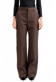 Dsquared2 Women's Dark Brown High Waisted Flat Front Pants
