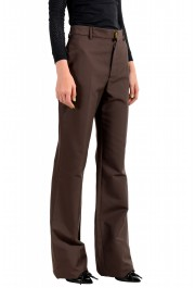 Dsquared2 Women's Dark Brown High Waisted Flat Front Pants : Picture 2