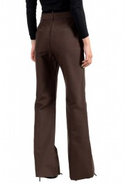 Dsquared2 Women's Dark Brown High Waisted Flat Front Pants : Picture 3