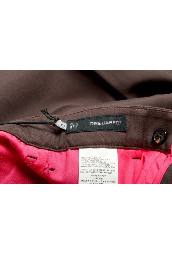 Dsquared2 Women's Dark Brown High Waisted Flat Front Pants : Picture 4