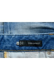 Dsquared2 Women's Blue Wash Distressed Cropped Capri Jeans: Picture 4