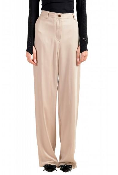 Maison Margiela Women's Gray Flat Front Pants