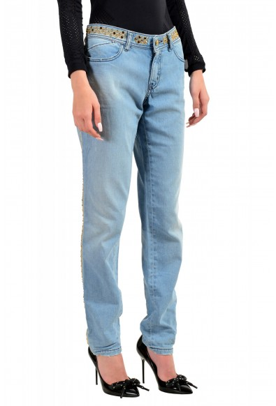 """Just Cavalli Women's Embroidered Luxury """"Skinny Leg"""" Blue Wash Jeans: Picture 2"""