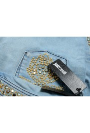 """Just Cavalli Women's Embroidered Luxury """"Skinny Leg"""" Blue Wash Jeans: Picture 5"""