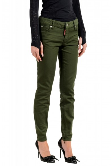 """Dsquared2 Women's """"Medium Waist Twiggy Jean"""" Olive Green Jeans: Picture 2"""