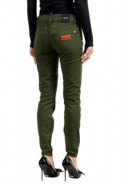 """Dsquared2 Women's """"Medium Waist Twiggy Jean"""" Olive Green Jeans: Picture 3"""