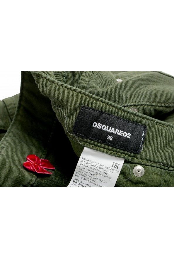 """Dsquared2 Women's """"Medium Waist Twiggy Jean"""" Olive Green Jeans: Picture 4"""