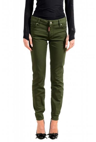 "Dsquared2 Women's ""Medium Waist Twiggy Jean"" Olive Green Jeans"