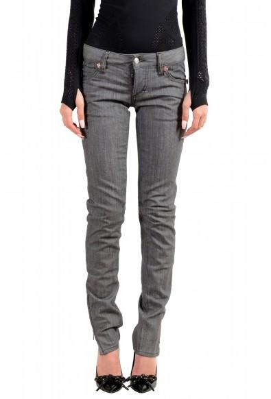 "Dsquared2 Women's ""Super Slim Jean"" Gray Wash Jeans"