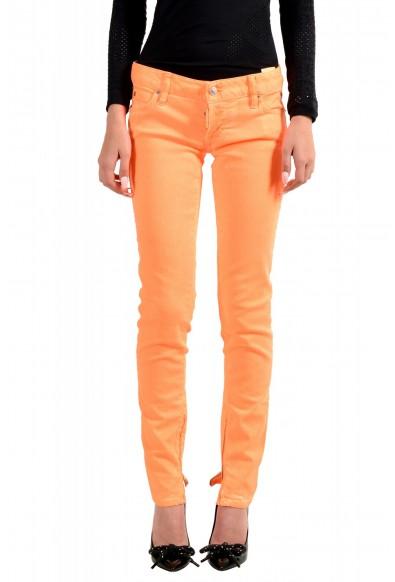 "Dsquared2 Women's ""Skinny Jean"" Colored Orange Jeans"