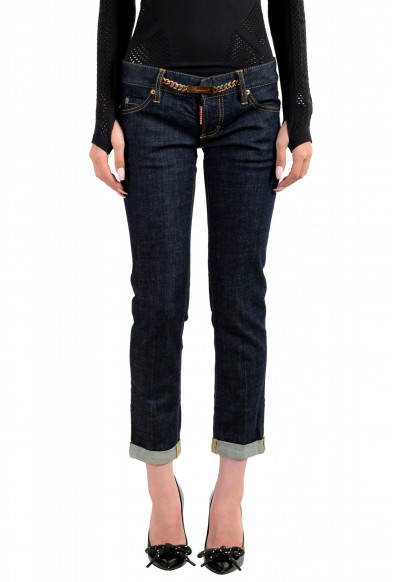 """Dsquared2 Women's """"Pat Jean"""" Dark Blue Skinny Jeans"""
