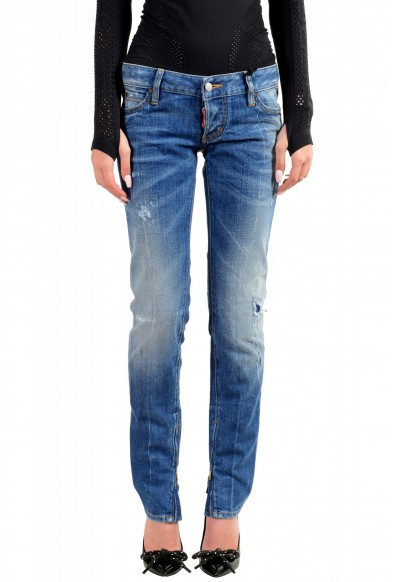 """Dsquared2 Women's """"Skinny Jean"""" Distressed Blue Wash Jeans"""