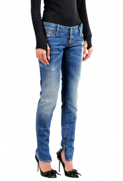 """Dsquared2 Women's """"Skinny Jean"""" Distressed Blue Wash Jeans: Picture 2"""