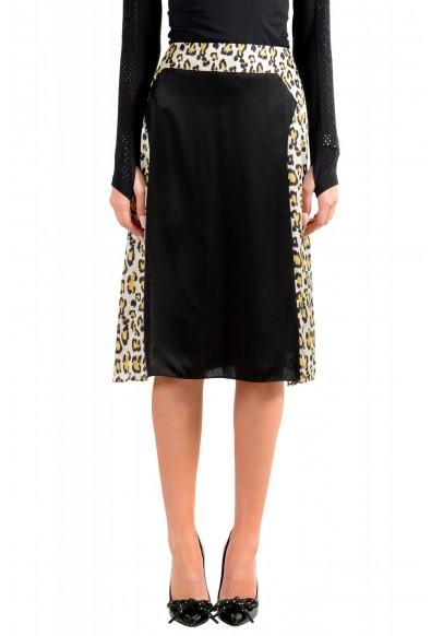 Just Cavalli Women's Multi-Color 100% Silk A-Line Skirt