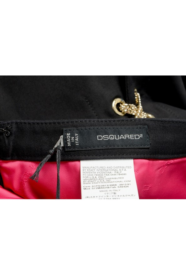 Dsquared2 Women's Black Metal Chain Decorated Mini Skirt: Picture 4