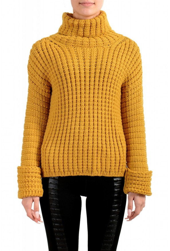 Moncler Women's Mustard Yellow 100% Wool Turtleneck Pullover Sweater : Picture 2