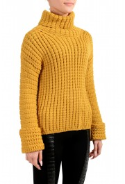 Moncler Women's Mustard Yellow 100% Wool Turtleneck Pullover Sweater : Picture 3