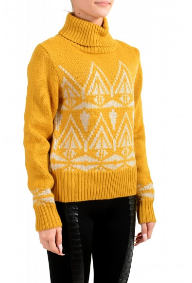 Moncler Women's Mustard Yellow 100% Wool Turtleneck Pullover Sweater: Picture 2
