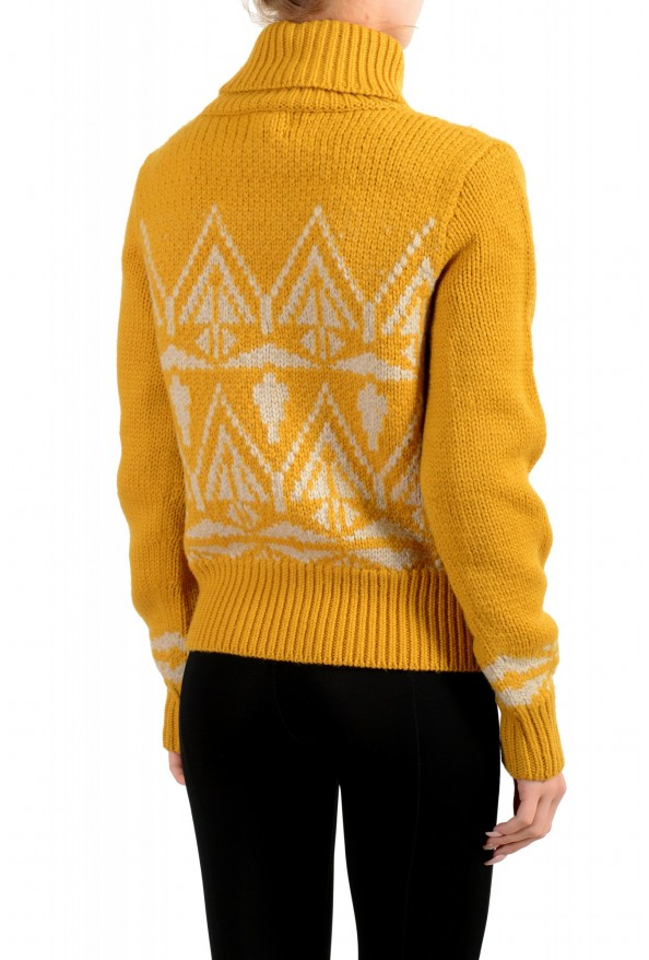 Moncler Women's Mustard Yellow 100% Wool Turtleneck Pullover Sweater: Picture 3