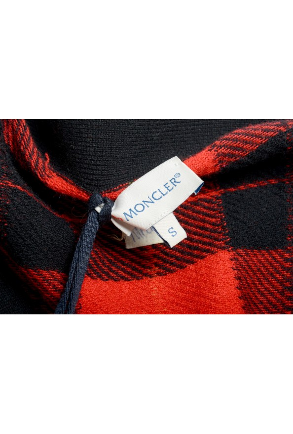 Moncler Women's 100% Wool Plaid Sleeveless Cardigan Vest Sweater: Picture 6