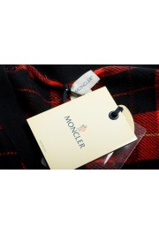 Moncler Women's 100% Wool Plaid Sleeveless Cardigan Vest Sweater: Picture 7