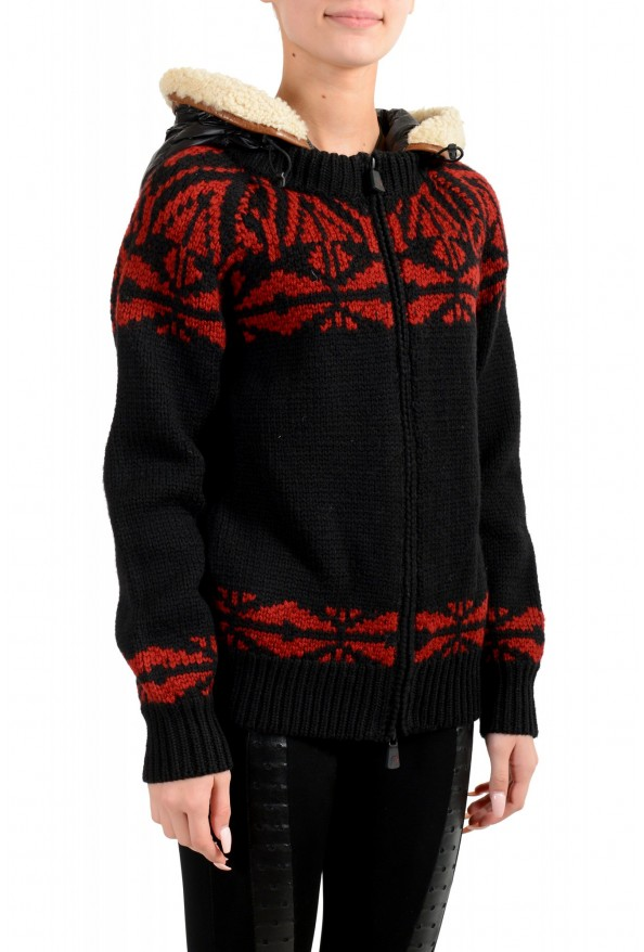 Moncler Women's 100% Wool Hooded Cardigan Sweater: Picture 2