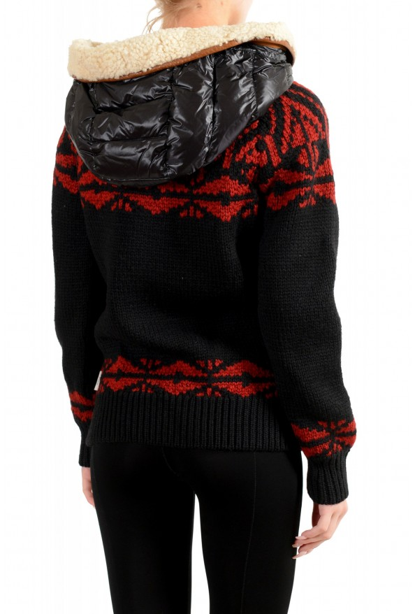 Moncler Women's 100% Wool Hooded Cardigan Sweater: Picture 3