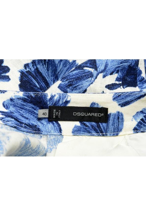 Dsquared2 Women's Floral Print Linen Pants : Picture 4