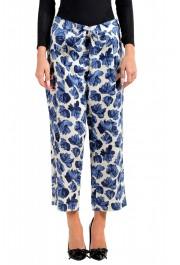Dsquared2 Women's Floral Print Linen Pants