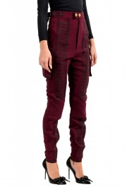 Dsquared2 Women's Purple High Waist Casual Pants : Picture 2