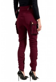 Dsquared2 Women's Purple High Waist Casual Pants : Picture 3