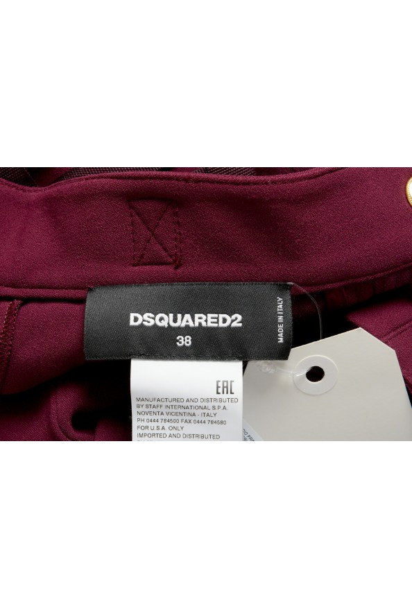 Dsquared2 Women's Purple High Waist Casual Pants : Picture 4