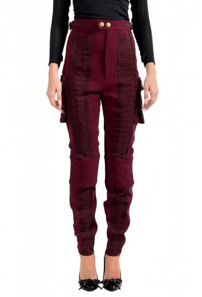 Dsquared2 Women's Purple High Waist Casual Pants
