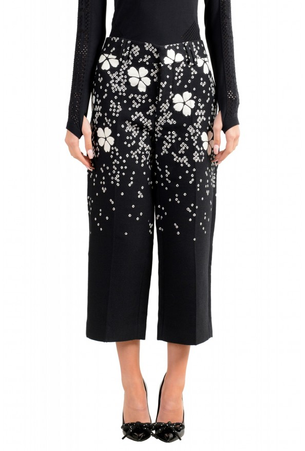 Dsquared2 Women's Multi-Color Silk Casual Cropped Pants