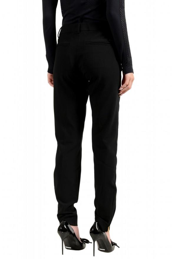 Dsquared2 Women's Black Wool Flat Front Dress Pants: Picture 3