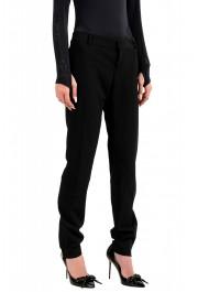 Dsquared2 Women's Black Wool Flat Front Dress Pants: Picture 2
