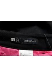 Dsquared2 Women's Black Wool Flat Front Dress Pants: Picture 4