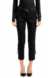 Dsquared2 Women's Black Wool Belted Casual Pants