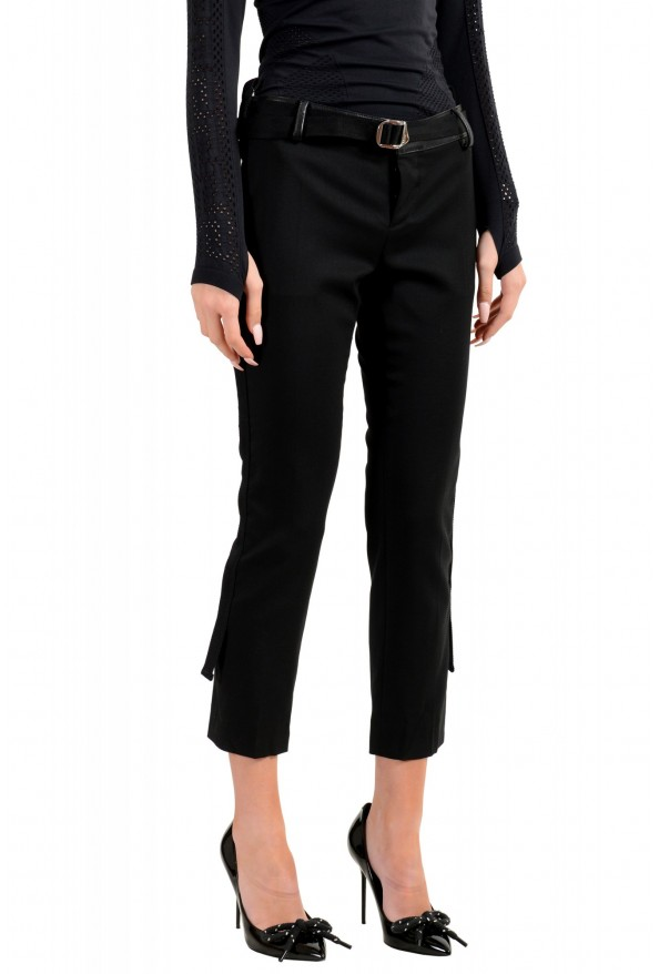 Dsquared2 Women's Black Wool Belted Casual Pants: Picture 2