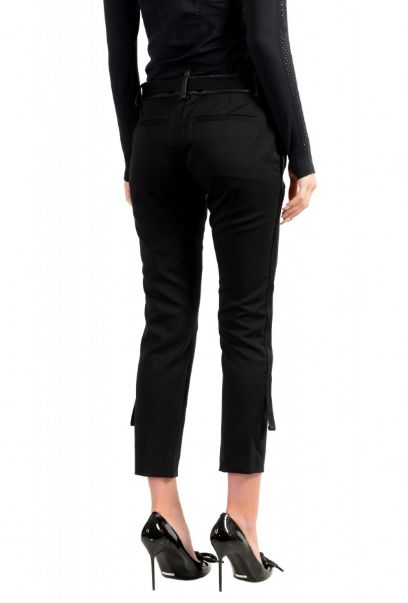 Dsquared2 Women's Black Wool Belted Casual Pants: Picture 3
