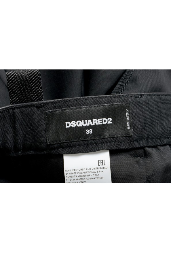 Dsquared2 Women's Black Wool Belted Casual Pants: Picture 4