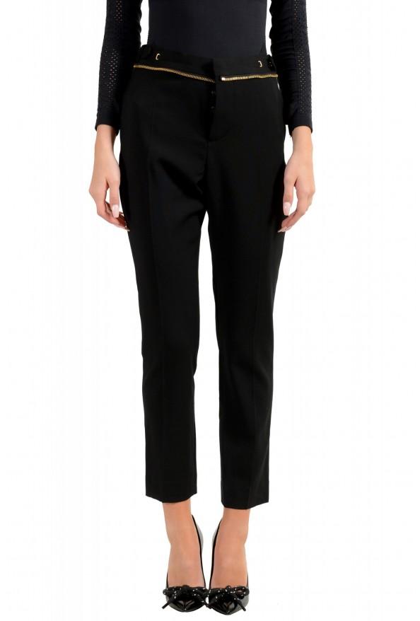 Dsquared2 Women's Black Wool Dress Pants