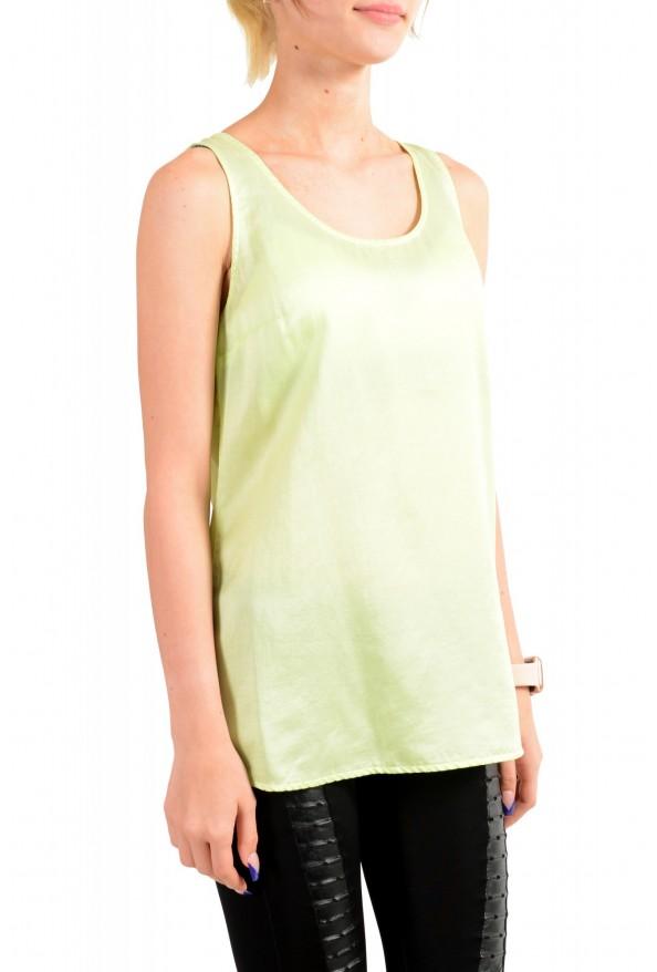 "Hugo Boss Orange Women's ""Etope"" Green Silk Sleeveless Blouse Top : Picture 2"