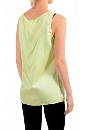 "Hugo Boss Orange Women's ""Etope"" Green Silk Sleeveless Blouse Top : Picture 3"