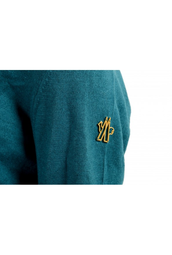 Moncler Women's Green Silk Cashmere V-Neck Pullover Sweater : Picture 5