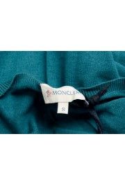 Moncler Women's Green Silk Cashmere V-Neck Pullover Sweater : Picture 7