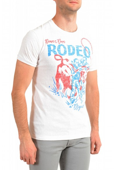 Dsquared2 Men's White Graphic Crewneck T-Shirt: Picture 2