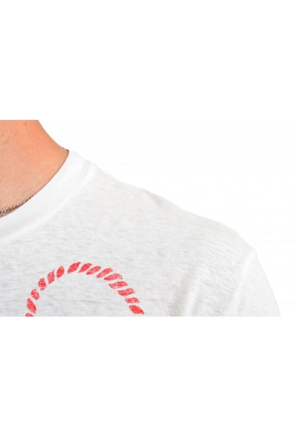 Dsquared2 Men's White Graphic Crewneck T-Shirt: Picture 4