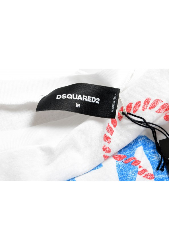 Dsquared2 Men's White Graphic Crewneck T-Shirt: Picture 5